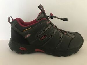Keen 1011913 Hiking Dry Waterproof Shoes Gray Youth Girl Size 1