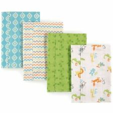 Luvable Friends Boy and Girl Flannel Burp Cloth, 4-Pack, Alphabet