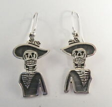 925 sterling silver earrings with Day of the Dead motif by Maria Belen