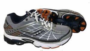 Saucony Mens Grid Raider Running Shoe •Silver/Navy/Orange•