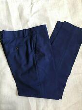 Alexander McQueen Blue Silk Trousers UK 8 36
