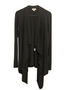 Witchery 100% Wool Charcoal Grey Drape Front Cardigan Size S