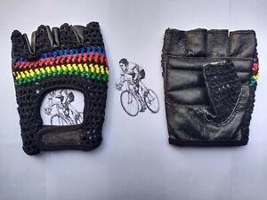 Vintage Style Crochet World Champion Cycling Mitt.