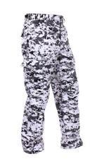 Men's City Digital Camo BDU Cargo Pants - Black & White Camouflage Rothco, XL