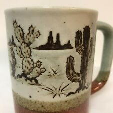 Stoneware Mug Monument Valley Rock Formations Prickly Pear Saguaro Cactus Cup