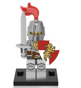 NEW Mini figure LION KNIGHT Swordman Knight 1 Series Minifigure UK STOCK