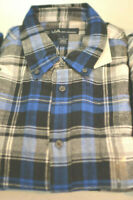 Macy's John Ashford Long-Sleeve Flannel Button-Down Shirt Sz M-L-XXL #1112