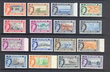 BAHAMAS SG 201-16 1954 Q E II DEFINITIVE SET MNH