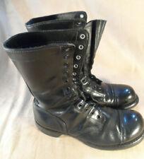 Vintage Corcoran Black Leather Cap Toe Jump Combat Boots Sz 8.5 D