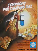 PUBLICITÉ DE PRESSE 1980 SYMPHONY PAR CAMPING GAZ - ALIBABA ET LES 40 VOLEURS