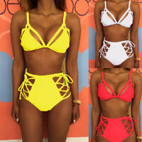 Women's Padded Push-up Bra Bikini Set Swimsuit Swimwear Beachwear Bathing Suit