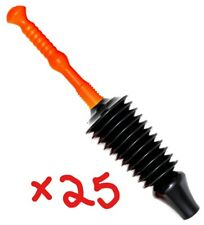 BULK BUY !! Brackit 25 X Toilet Plungers, Accordion Suction, Fits All Toilets,