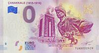 BILLET 0  EURO CANAKKALE 1915-1916 TURQUIE  2019  N° PALINDROME 929