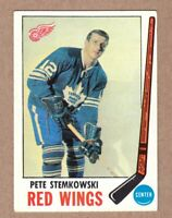 1969-70 Topps #65 Pete Stemkowski Detroit Red Wings Near Mint NM condition