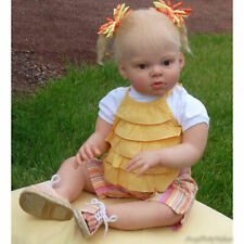 Blank Reborn Doll Kits Soft Vinyl Head + Full Limbs for 28'' Toddler Baby Dolls