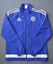 5/5 CHELSEA (THE BLUES) FOOTBALL SOCCER  JACKET LONG SLEVEE ADIDAS SIZE S