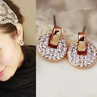 1Pair Fashion Women Lady Elegant Crystal Rhinestone Ear Stud Earrings JewelryHIC