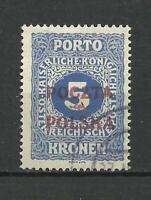 poland 1919 Krakau 5 Kronen used