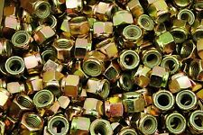 (50) Nyloc Grade 8/C Hex Locking Nuts 5/8-11 Yellow Zinc Plated Nylock
