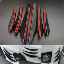 6pcs Gloss Black Universal Front Bumper Fin Body Spoiler Canards Exterior Decor