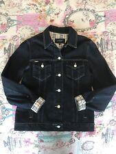 Womens Genuine Burberry Denim Jacket Size Uk 12 Great Condition