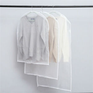 5x Clothes Covers Dust Mould Mildew & Moth Resistant Hanging Bags