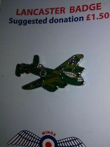 RAF Lancaster WW2 Metal Enamel Pin Badge