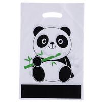 10Pcs / Lot Thème Panda Cadeau Sacs En Plastique Sac Butin Sac De Bonbons FE