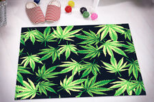 Marijuana Leafs Pattern Kitchen Bathroom Floor Non-slip Bath Door Mat Bathmat
