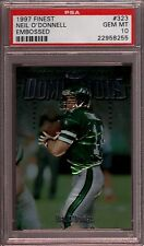1997 FINEST #323 NEIL O'DONNELL ☆EMBOSSED☆ NEW YORK NY JETS ☆POP 1☆ PSA 10 GM-MT
