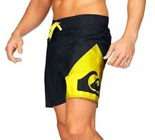 QUIKSILVER Mens First-Rate Swim Beach Swimming Board Shorts Black Yellow XXL 36