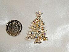 Vintage Eisenberg Ice Christmas Tree Brooch