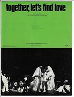 THE 5TH DIMENSION Sheet Music TOGETHER LET'S FIND LOVE  1972