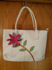 Mellow World brand cream shoulder bag, faux leather,15 in.x 12 in.x 9 in. floral