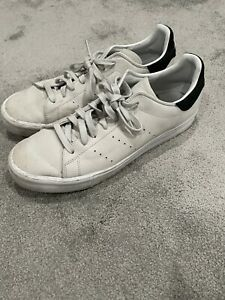 Adidas Stan Smith Suede Sneakers - Special Edition - White / Black - Size 11