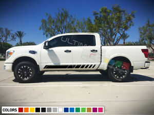 Clear Vinyl Side Stripes for Nissan Titan cover door 2015 2016 2017 2018 light