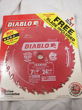 """NEW Freud Diablo Thin 2-Pack 7-1/4"""" 24 Tooth Carbide Tipped Circular Saw Blade"""