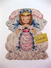 1947 Hallmark Paper Doll Card Land of Make Believe Cinderella A