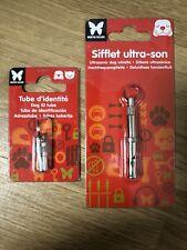 Sifflet Ultrason + Tube D'identité Pour Chien