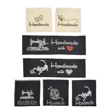50x Washable Cloth Woven Labels Tags Handmade Clothing Sewing Patch Accessories