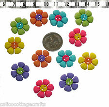 Novelty Button Embellishments Sew Cute Flower Buttons Knitting Sewing  #359