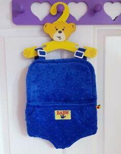 BUILD A BEAR 💙 Boys Blue Baby Soft Carrier Sling Bag Adj Strap Backpack Gift