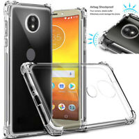 For Motorola Moto G6 Z4 X4 G7 Plus Supra E6 Shockproof Soft TPU Case Cover
