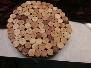 Wine cork trivet - Handmade