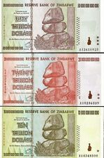 10, 20, 50 TRILLION ZIMBABWE DOLLAR MONEY CURRENCY.UNC* USA SELLER * 100.