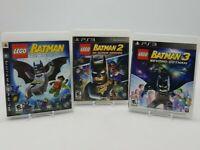 LEGO Batman 1 2 3 Sony Playstation 3 PS3 Lot DC Super Heroes Beyond Gotham CIB