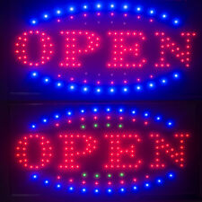 �Us】3 Color Visible Led Light Flash Motion Open Sign Chain Switch Bar Shop 25*48