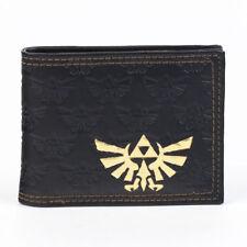 Official Nintendo THE LEGEND OF ZELDA Mens / Boys Black Wallet w Gold Foil ~ NEW