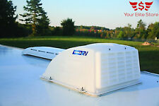 RV Roof Vent Cover Camper Trailer Top Lid White Travel Rain Wind Air Camco Parts