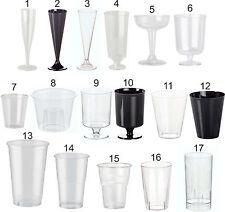 Disposable Glasses, Plastic Cocktail, Champagne, Wine, Shot, Half Pint, Tumbler